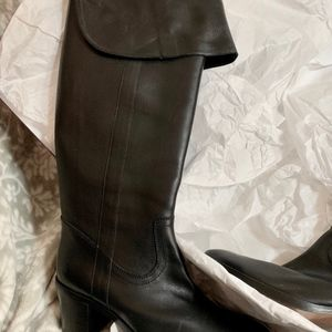 Ralph Lauren Collection Shoes - Safia Leather Over the Knee Riding Boots or Cuffed
